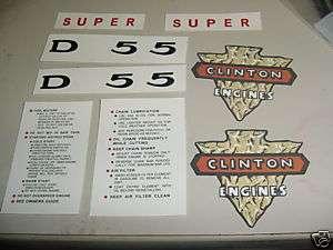 CLINTON D55 SUPER CHAINSAW DECAL STICKER SET NEW