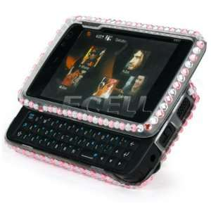 PINK I MISS YOU 3D CRYSTAL BLING CASE FOR NOKIA N900 Electronics