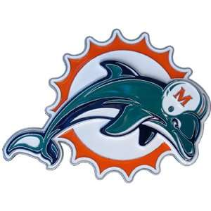 Miami Dolphins NFL Pewter Logo Trailer Hitch Cover