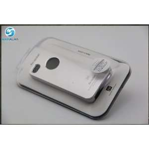 Air Jacket Cover Case for At&t Iphone 4 White (W/ Retail Box Packaging
