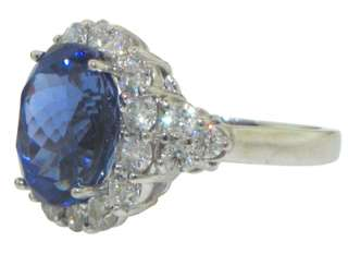 29 CT WOMENS ROUND CUT DIAMOND & TANZANITE RING