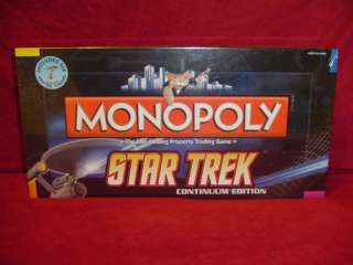 Star Trek Continuum Monopoly Collectors Edition Sealed