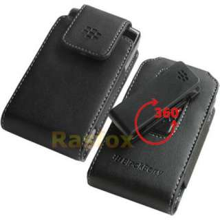 Blackberry Torch 9800 Leather Swivel Holster Pouch Case