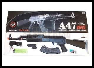 Airsoft JG AK47 AK 47 Metal Gear Box AEG Rifle RIS Rail