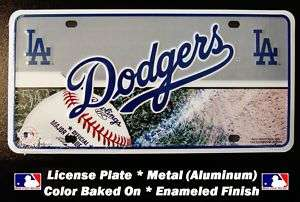 DODGERS LOS ANGELES Metal LICENSE PLATE Tag Sign NEW