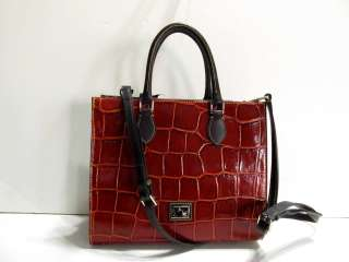 DOONEY & BOURKE JANINE CROCO EMBOSSES BURNT ORANGE TOTE HANDBAG