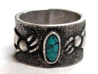 Lee Begay Kokopelli Ring Lone Mountain Turquoise NICE