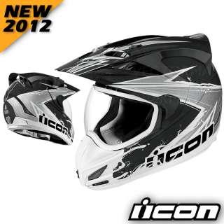 ICON NEW 2012 Variant Salvo Motorcycle Street Helmet Black Reflective