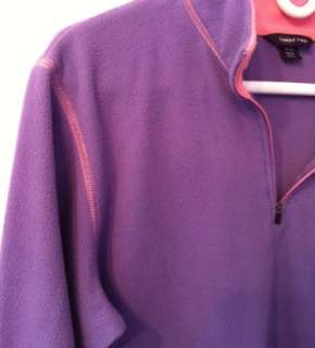 purple with pink trim fleece women s xl 18 20 odor free from a smoke