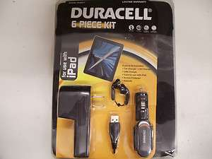 Apple iPad 6pc Kit by Duracell AC/Car/USB Charger,Case,Screen Protect