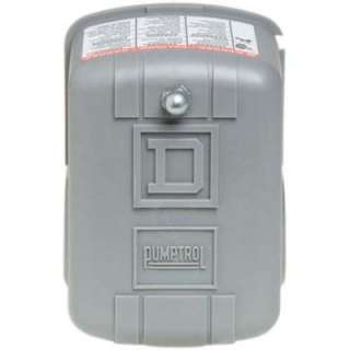 Square D by Schneider Electric 20 40 PSI Pumptrol Pressure Switch