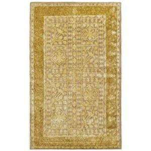 Beige & Light Gold 4 Ft. X 6 Ft. Area Rug SKR214A 4
