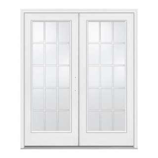JELD WEN 72 in. x 80 in. WhiteLeft Hand Inswing French Patio Door with