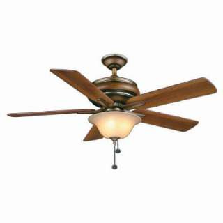 Hampton Bay Bay Island 52 in. Belcaro Walnut Ceiling Fan 34162 at The