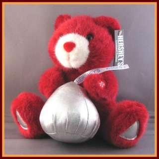 Everybody loves a kiss and this red plush bear brings his very own