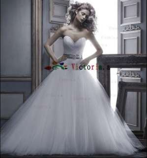 New White/Ivory Sweetheart Beaded Wedding Dresses/Gowns Size4 6 8 10