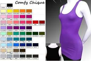 LONG & LEAN RIBBED TANK TOP S XXXL SIZES 0 20 *LOTS OF COLORS* WOMENS