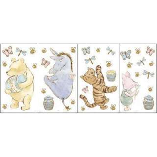 Disney 4 Piece 9 3/4 In. X 16 4/5 In. Multicolored Classic Pooh Wall