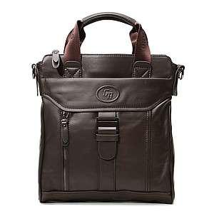 Mens Leather Messenger Shoulder Briefcase Satchel BAG