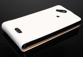 Sony Ericsson Xperia Arc , Arc S X12 Weiß Leder Tasche Etui Case