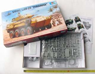 scale unassembled plastic model kit of the USMC LAV 25 PIRANHA