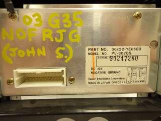 G35 G 35 Navigation GPS Radio Pop Up LCD Display Screen Monitor