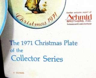 1971 Heavenly Angel Hummel LE MWB Christmas Plate w/Box