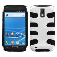 For T Mobile Samsung Galaxy S II / S2 Gel/Hard Case White/Blk+ Screen