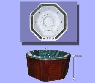 two 2 person indoor whirlpool hot tub jacuzzi massage bathtub. Black Bedroom Furniture Sets. Home Design Ideas