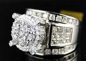 WOMENS ROUND PRINCESS CUT DIAMOND ENGAGEMENT BRIDAL WEDDING BAND RING