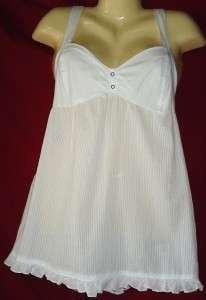 Womens Arizona Jean Company White Cotton Cami Top Size XL 1X