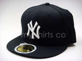 New York Yankees Navy White Kids New Era Fitted Hat