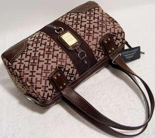 NEW Tommy Hilfiger Brown Handbag Tote Bag Purse