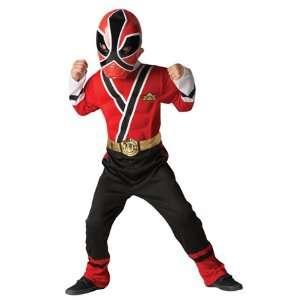 Power Rangers Samurai NEU neue Muskel Brust kostüm up Kostüm rot