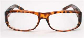 Fashionable Tortoise Frames Clear Lens Women Men Sexy Chic Ford Style