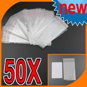 Adhesive Seal Plastic JEWELRY Gift Retail Packing Bags 6x10cm