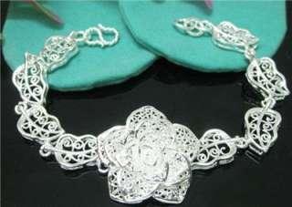 Specials Hot sale silver big rose Bracelet bangle D40