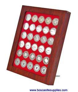 Lindner Rosewood Display Wall Hanging Coin Box Frame