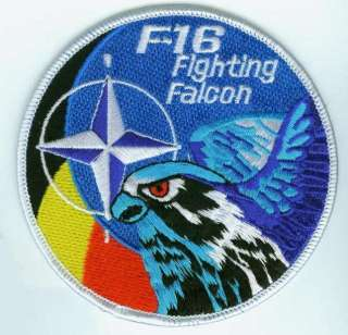 16 SWIRL PATCH BELGIAN AIR FORCE NATO FALCON SWIRL
