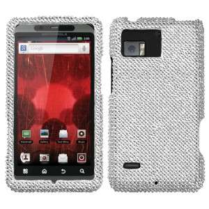 Diamond BLING Hard Case Phone Cover for Verizon Motorola Droid Bionic