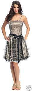 1014 LACE LAYER PARTY CLUB COCKTAIL EVENING PROM DRESS