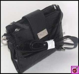 Nine West Black Tex Cross Body Messenger Bag Nwt