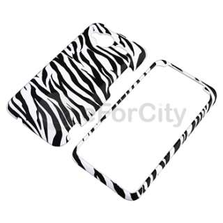 new generic snap on case for htc evo shift 4g white black zebra