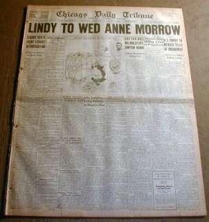 BEST 1929 newspaper aviator CHARLES LINDBERGH to Marry ANNE MORROW Big