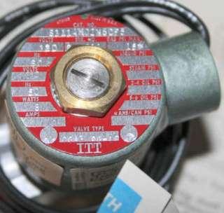 ITT PILOT FUEL GAS SHUTOFF SOLENOID VALVE 3/8 NPT 120V 15 PSI