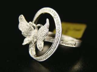 LADIES/WOMENS BUTTERFLY FASHION DIAMOND RING 14k .50 C