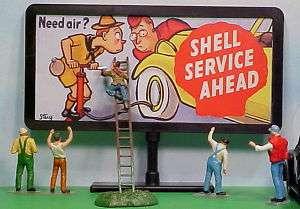 1950s Shell Service Station Billboard O Train 1/43