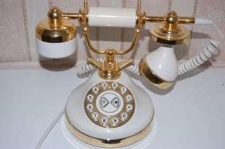 Telefon in weiß Nostalgie, Teil Vergoldet in Berlin   Wilmersdorf