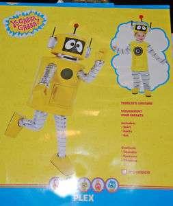 New YO GABBA GABBA Plex Halloween costume robot 2T