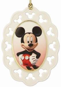 Lenox China Disney Mickey Mouse   Mickey Cameo Ornament NEW for 2011